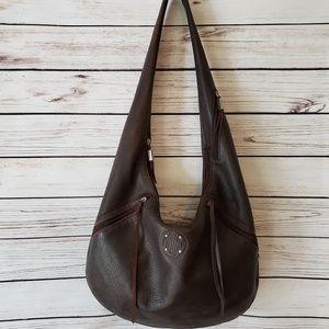 Stone Mountain Large Leather Hobo Bag Handbag